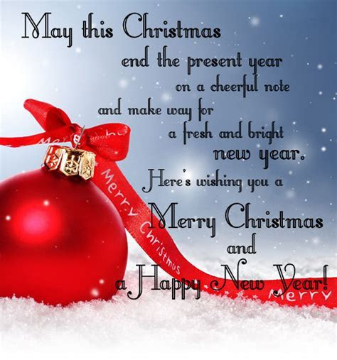 May This Christmas End The Present Year On A Cheerful Note