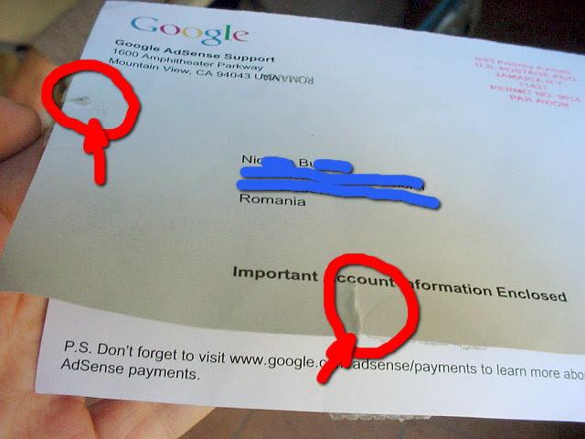 adsense envelope