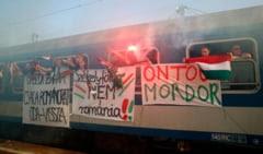 Trenul cu suporteri maghiari a pornit spre Romania: Incident grav la plecare