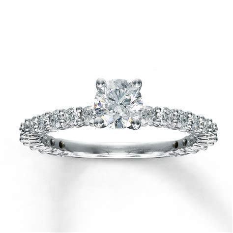 1 Carat Round Diamond Eternity Engagement Ring in White