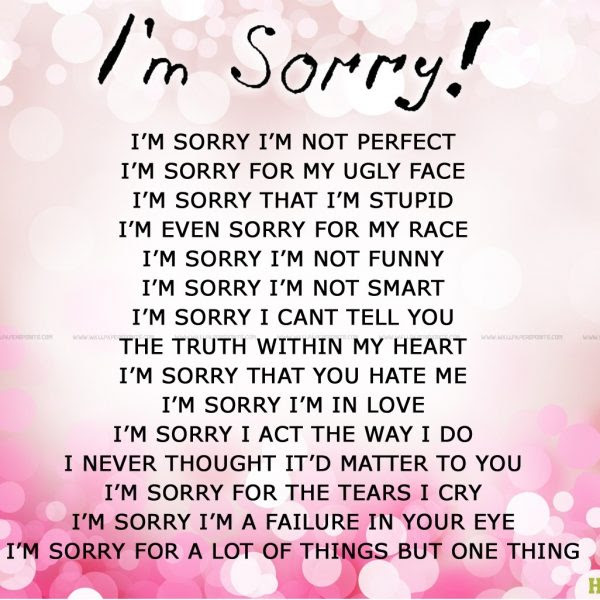 Im Sorry Quotes For Girlfriend New Sorry Quotes Wallpapers 1600 In I