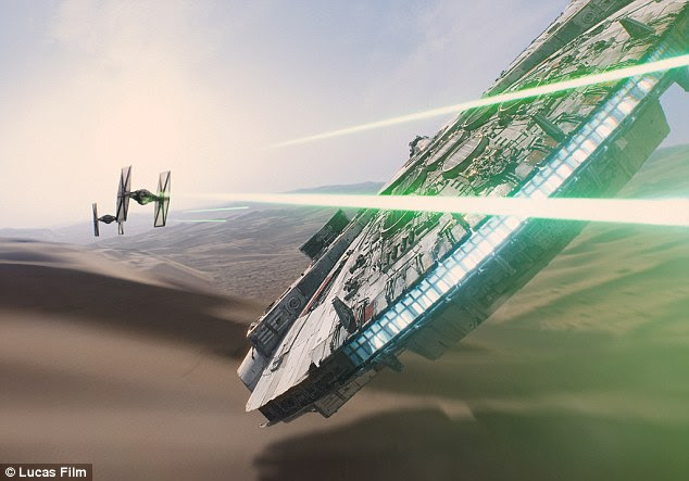 Spacecraft, vehicles and even individual robots in the Star Wars films (pictured) had their own shields