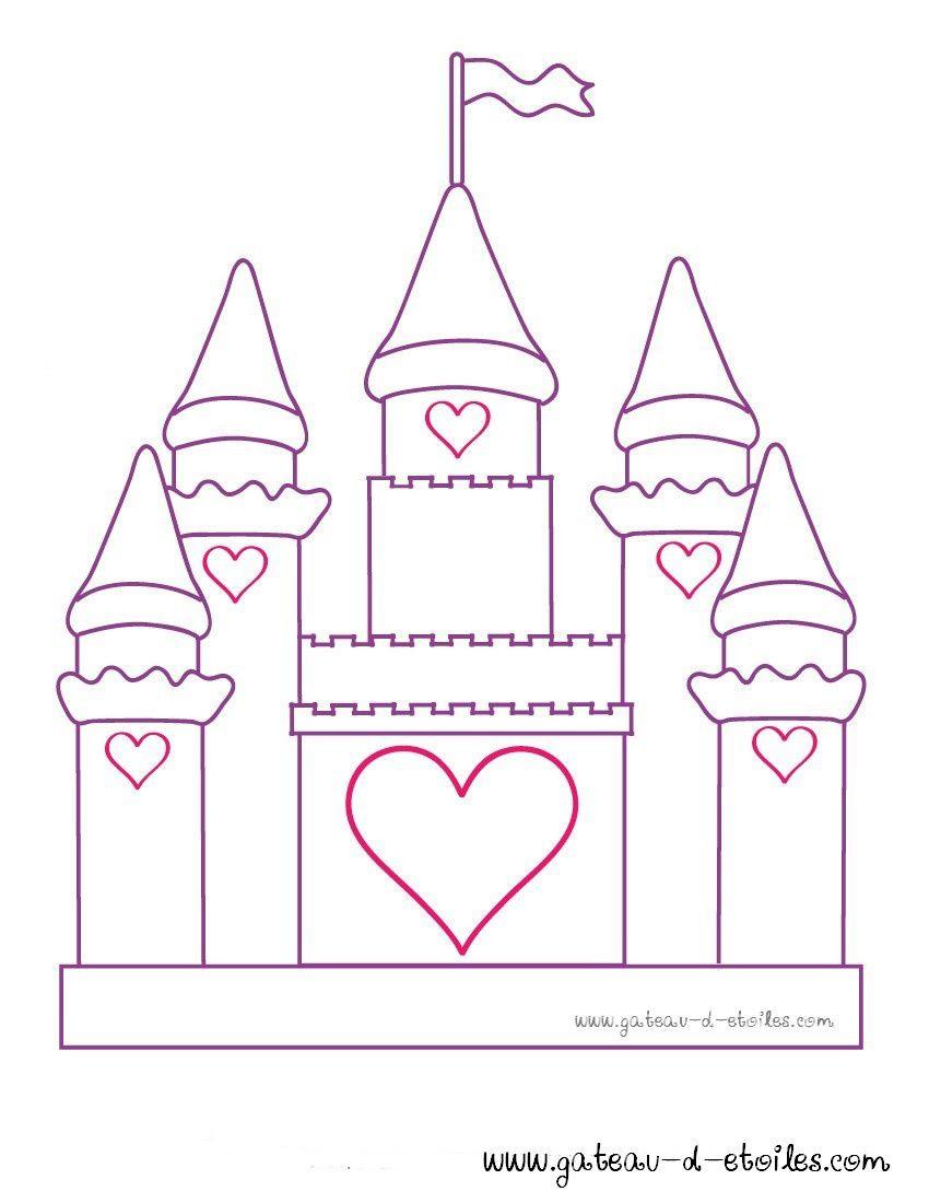Coloriage Chateau Princesse A Imprimer.Belle Coloriage Princesse Et Chateau Imprimer Et Obtenir Une