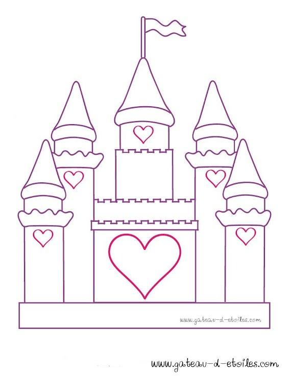 Coloriage Chateau De Princesse à Imprimer