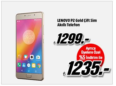 LENOVO P2 Gold Çift Sim Akıllı Telefon 1235TL