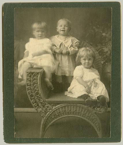 Three children readjust