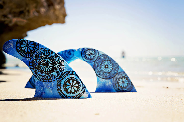 Hand-painted fins: give a new life to your underwater wings | Photo: Wild Wolf Collective