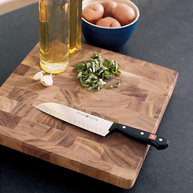 Square End-Grain Cutting Board | Crate & Barrel