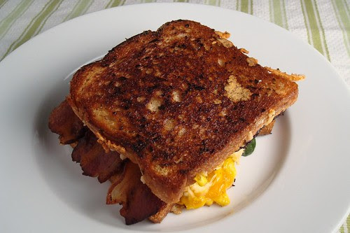Grilled Cheese with Bacon and a Fried Egg