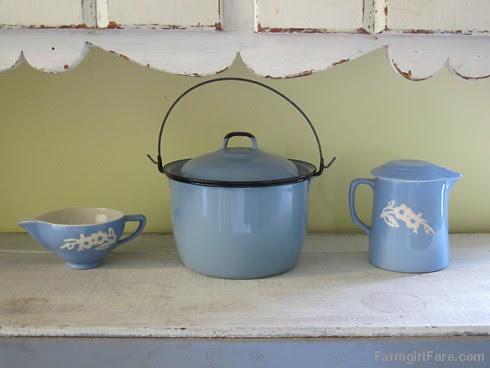 (28-11) Vintage vignette in the kitchen - FarmgirlFare.com
