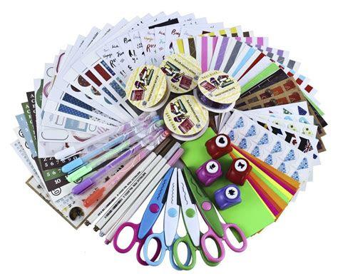 scrapbooking supplies set scrapbook kit paper stickers diy