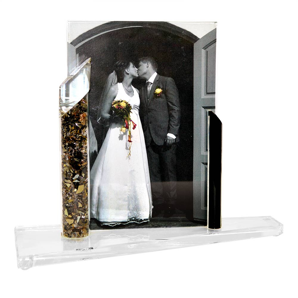Jewish Wedding Gift Shardz Crushed Wedding Glass Picture Frame 5 X 7