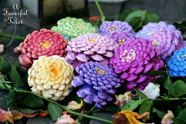 Pinecone flowers 8