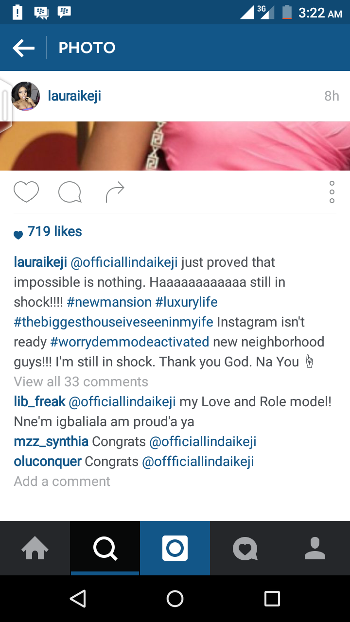 Aww, Linda Ikeji acquires a mansion!