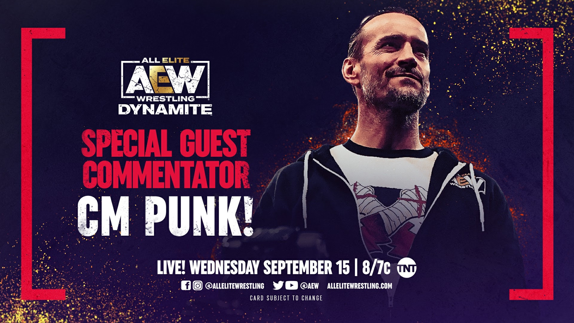 AEW Dynamite Preview: CM Punk On Commentary, Adam Cole In Action