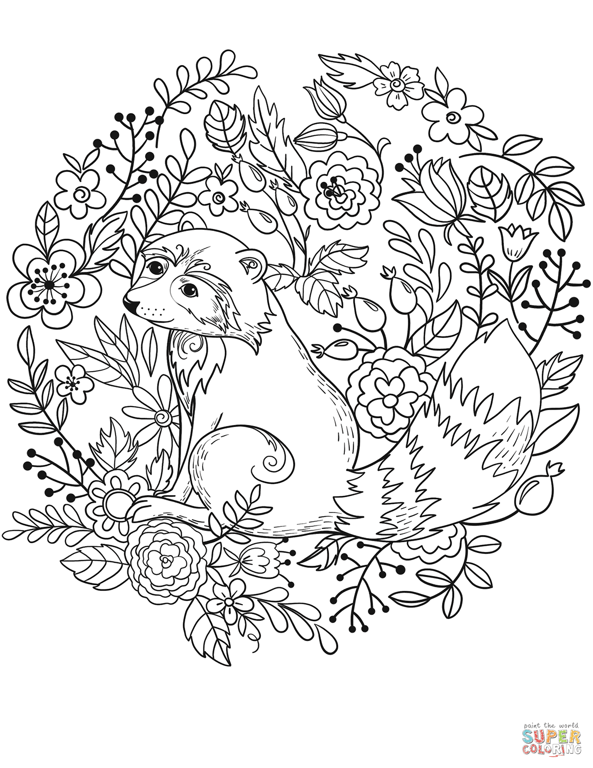 Racoon Coloring Page Coloringnori Coloring Pages For Kids