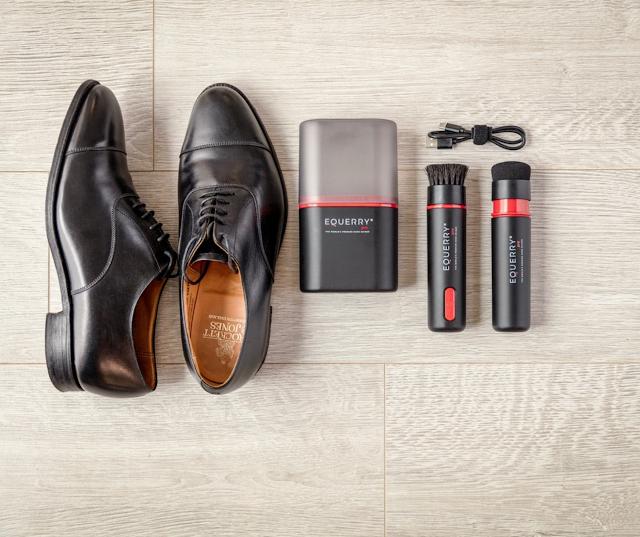 【英國 EQUERRY Pro 電動擦鞋器】高速轉動令皮鞋即刻變「新」