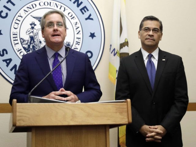 Xavier Becerra sues over sanctuary city (Marcio Jose Sanchez / Associated Press)