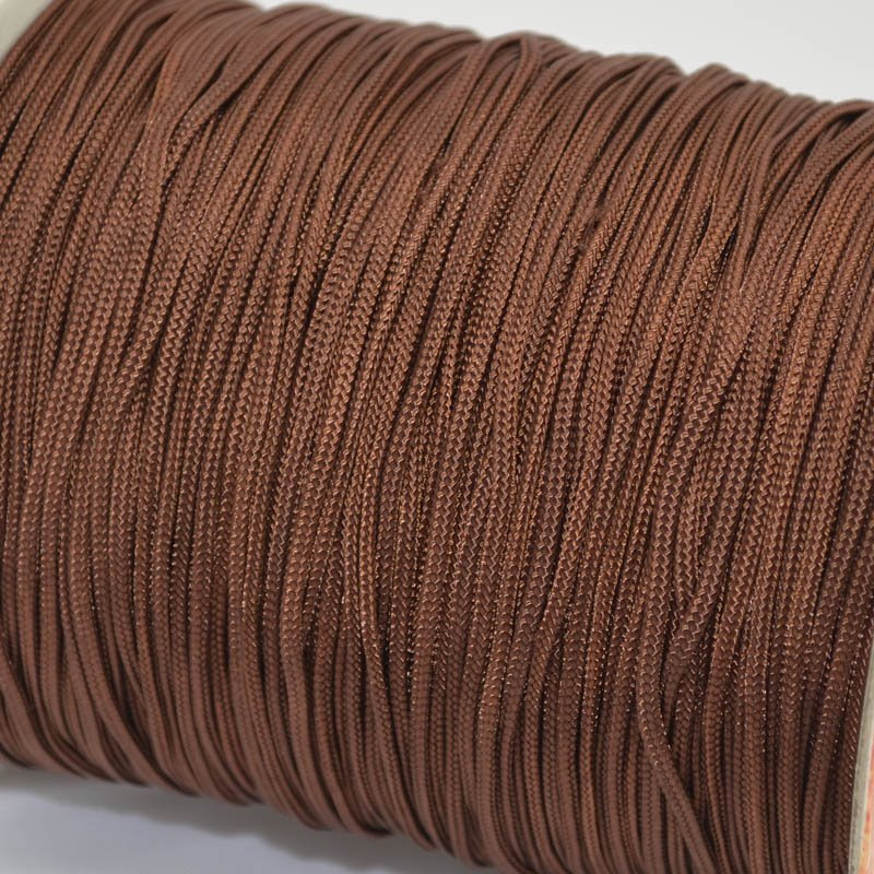 75401002-02 Braid - 2 mm Asian Knotting Cord - Chocolate (1 meter)