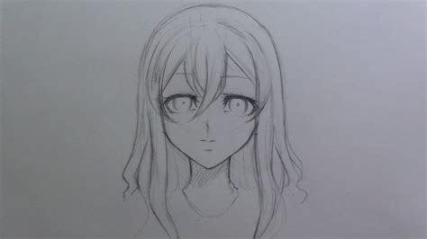 mini tutorial   draw female manga anime hair youtube