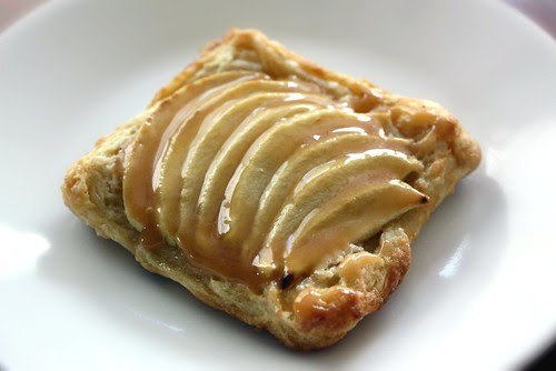Puff Pastry Apple Tartlets with Salted Caramel
