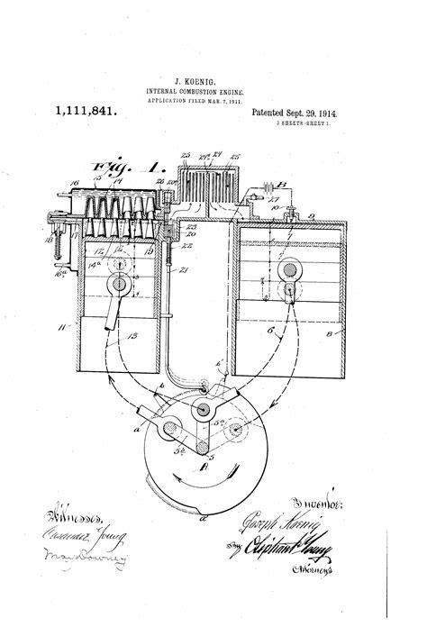 Patent US1111841 - Internal-combustion engine. - Google