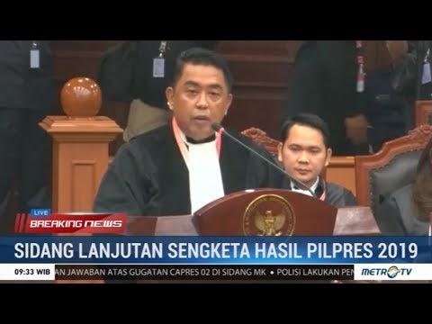 KPU Menangkis Seluruh Tudingan Tim Prabowo di Sidang MK Kedua