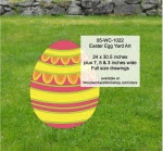 Easter Egg Yard Art Woodworking Pattern - fee plans from WoodworkersWorkshop® Online Store - easter eggs,yard art,painting wood crafts,scrollsawing patterns,drawings,plywood,plywoodworking plans,woodworkers projects,workshop blueprints
