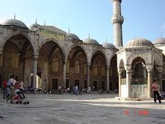 Kawasan Dalaman Blue Mosque, Istanbul, Turkey