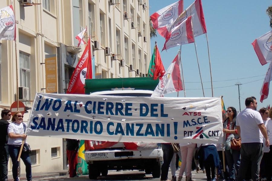 ATSS convoca hoy a una concentración y marcha en defensa del Sanatorio Canzani