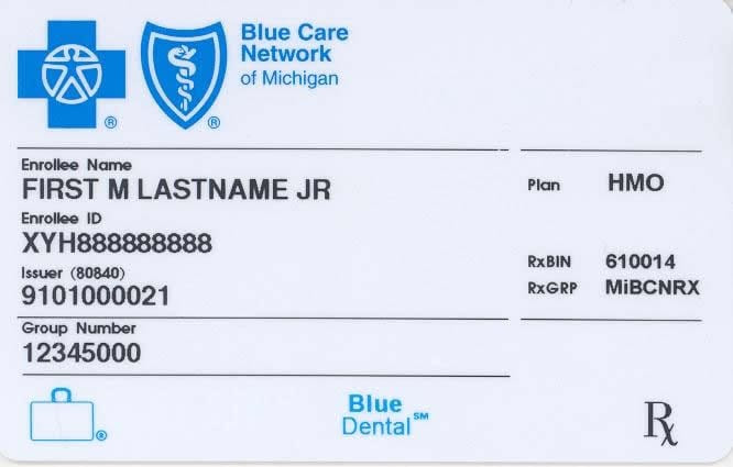 How To Read A Bluecross Blueshield Insurance Card