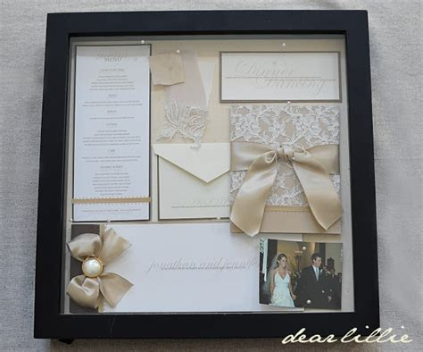 Our Wedding Invitation, Program, and Menu   box frame