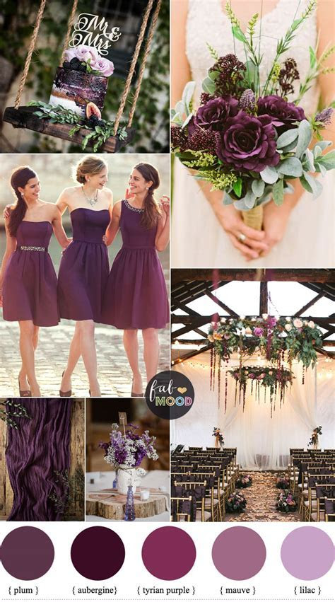 Plum Wedding Color For Rustic Wedding ,lilac mauve wedding