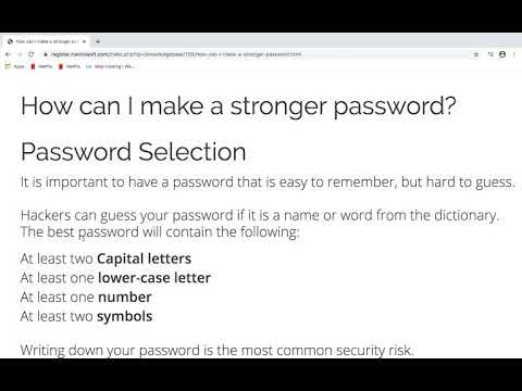 How can I make a stronger password?
