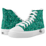 Teal Glitter Confetti Printed Shoes