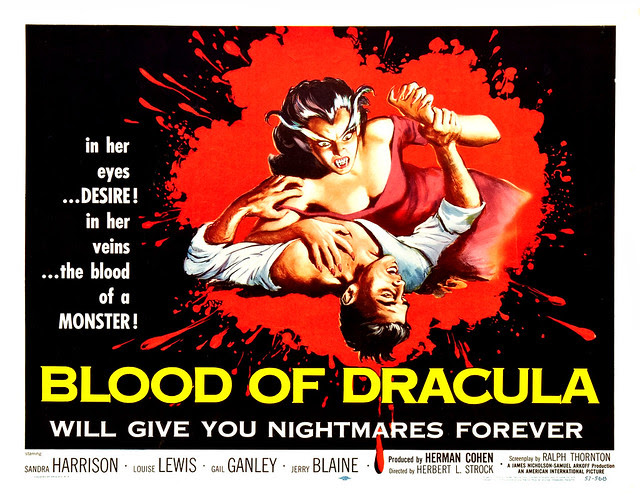 Albert Kallis - Blood Of Dracula (American International, 1957) Half Sheet