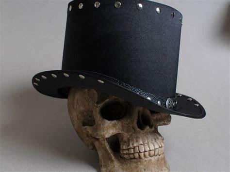 Black Top Hat Hard Rock Heavy Metal Gothic Tophat Men