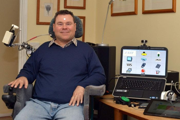 Sean Fitzgerald at his home in Canberra