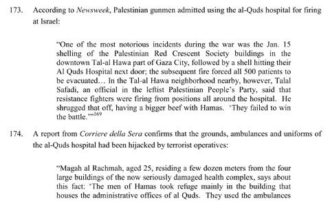 excerpt from Israeli report