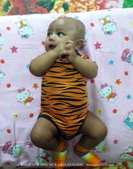 BABY UMAR BERUMUR 4 BULAN SUDAH