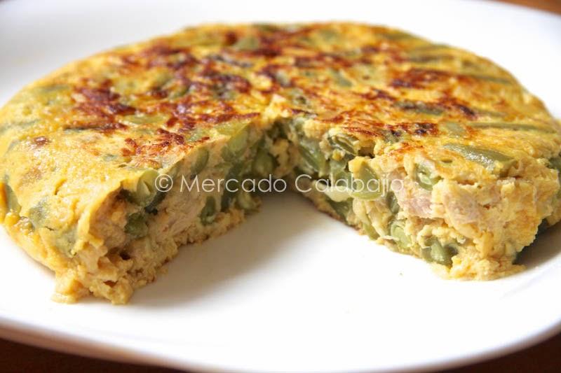 Recetas con jud as verdes asadillo y tortilla con at n - Calorias de las judias verdes ...