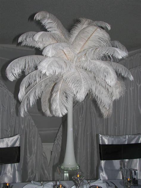 Ostrich Feather Centerpiece Decorations   Ostrich Feathers