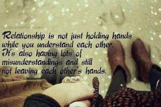 Relationship Is Not Just Holding Hands While You Understand Each