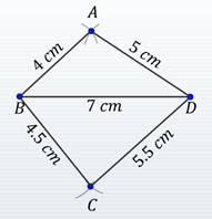 Constructing Irregular quadrilaterals