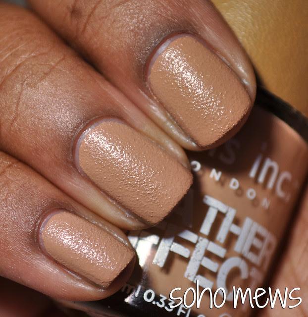 Nails Ince Soho Mews tan texture nail polish