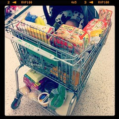 Shopping for a food blog + family of 6 + baby in cart = RIDICULOUS.