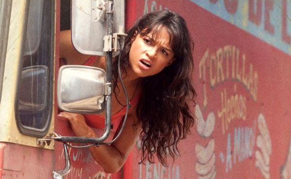 Michelle Rodriguez as a taco truck vendor-turned-revolutionary in MACHETE.