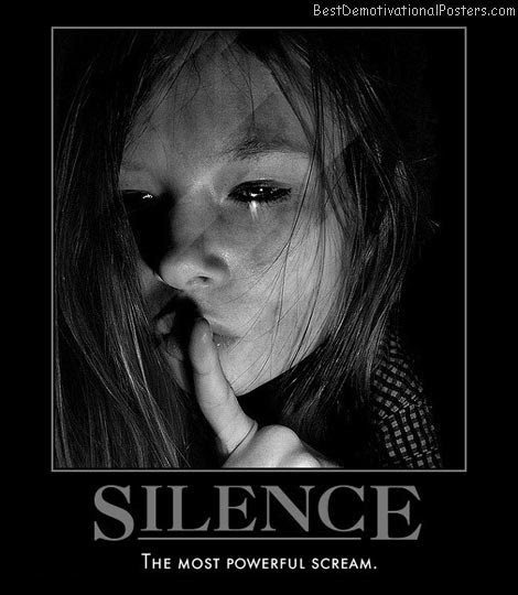 Silence Is Demotivational Poster