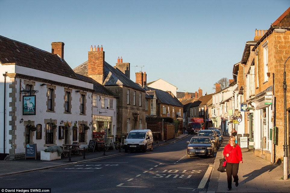 Supermarket sweep: Those living in Castle Cary fear a large shopping centre could be built to cater for new arrivals, wrecking their high street