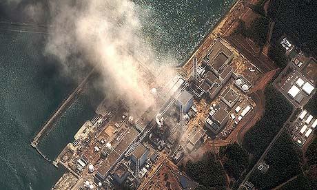 Satellite image of Fukushima Daiichi nuclear plant